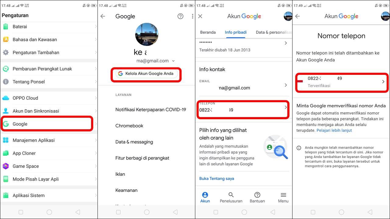 Cara Mudah Mengganti Nomor Telepon Gmail