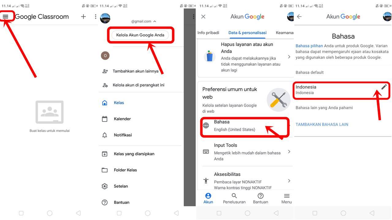 cara mengganti bahasa di google