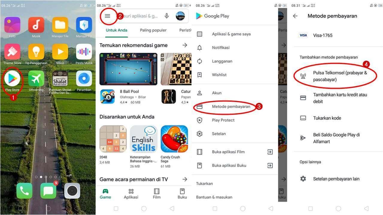 Cara Top Up Google Play Dengan Pulsa