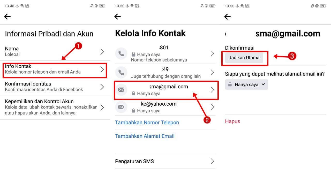 Cara Mengganti Email Facebook Versi Terbaru